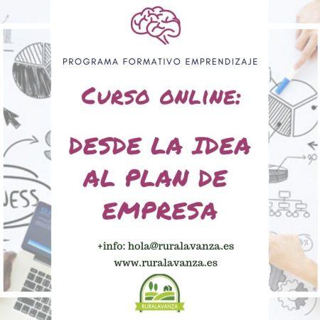 Curso online: Desde la idea al plan de empresa
