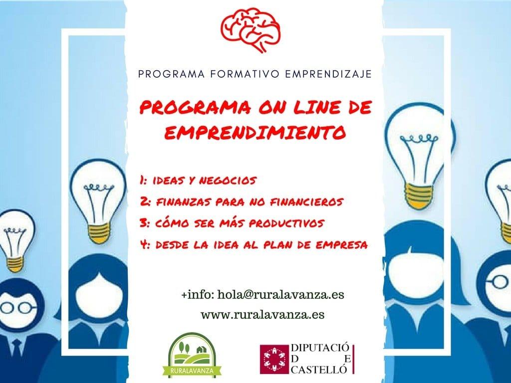 Imagenes cursos emprendizaje con logo Dipu