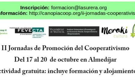 Jornadas gratuitas sobre cooperativismo y empleabilidad