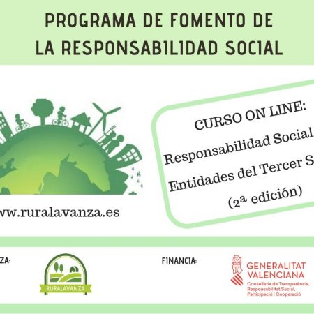 MATRÍCULA CERRADA: Curso on line: Responsabilidad Social para entidades del Tercer Sector.