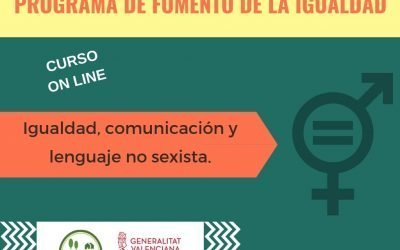 MATRÍCULA CERRADA – Curso online: Igualdad, comunicación y lenguaje no sexista.