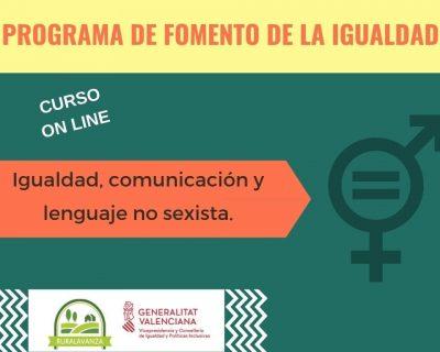 Curso online: Igualdad, comunicación y lenguaje no sexista.