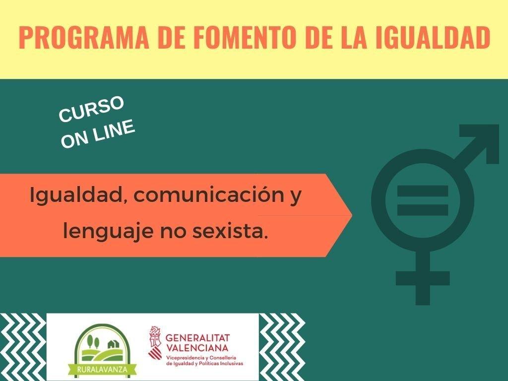 2019 Imagen curso Igualdad, comunic y lje no sexista