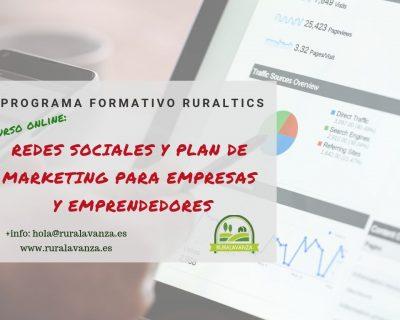 Curso online: Redes Sociales y Plan de Marketing para empresas y emprendedores