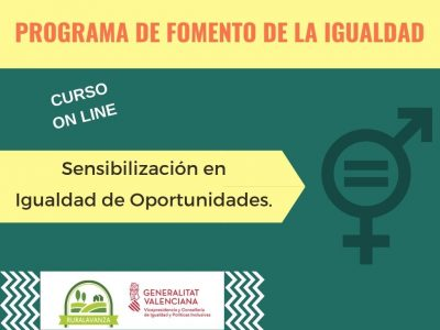 MATRÍCULA CERRADA: Curso online: Sensibilización en igualdad de oportunidades
