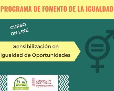 Curso online: Sensibilización en igualdad de oportunidades