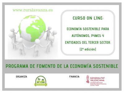 Curso on line: Economía sostenible para autónomos, PYMEs y entidades del tercer sector.