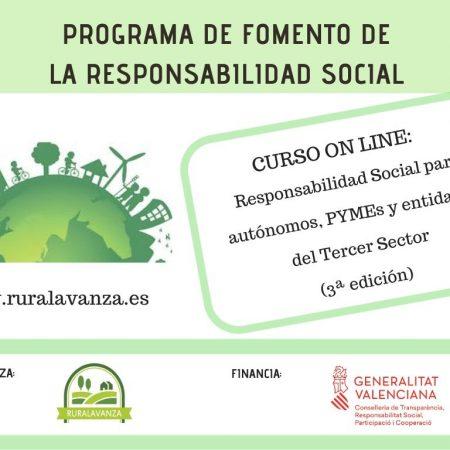 Curso on line: Responsabilidad Social para autónomos, PYMEs y entidades del Tercer Sector..