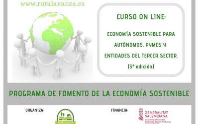 MATRÍCULA CERRADA – Curso on line: Economía sostenible para autónomos, PYMEs y entidades del tercer sector.